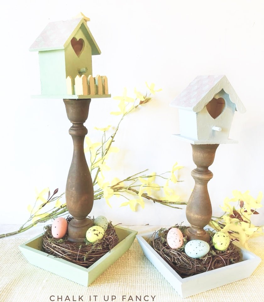 DIY using a $1               Birdhouse from Michaels