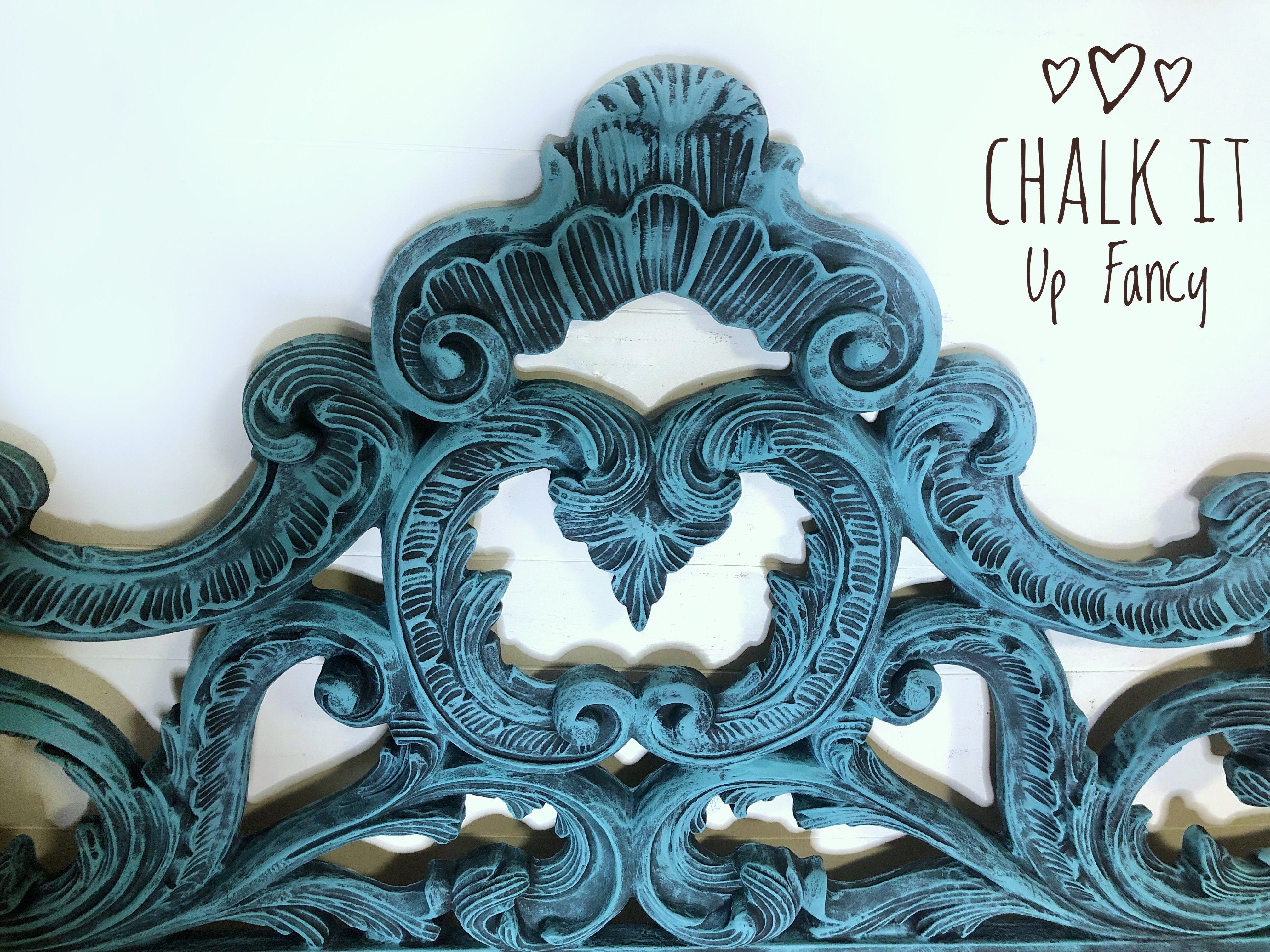 """How we used """"Dry Brushing"""" to complete this Headboard!"""