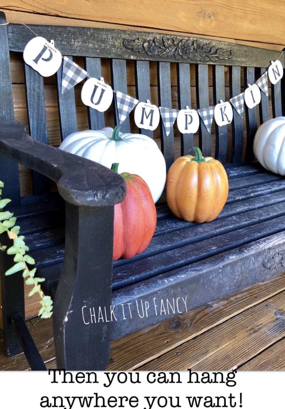 DIY Pumpkin Garland